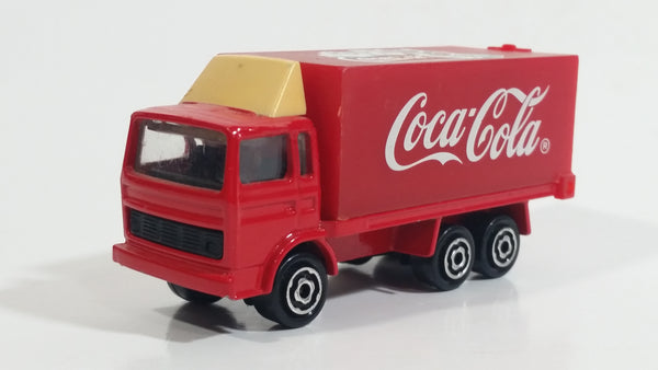 Majorette Coca-Cola Coke Soda Pop Delivery Container Semi Truck 1/100 Scale Die Cast Toy Car Vehicle with Opening Rear Door