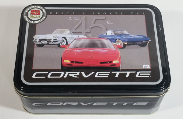 Official GM Product Special Edition Open Road Classics Chevrolet Corvette For Over 45 Years Collectible Tin Metal Container