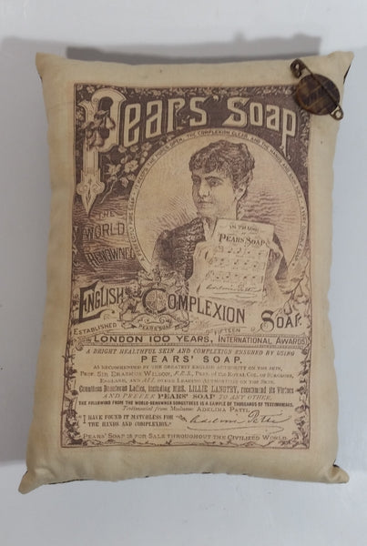 "Pear's Soap Vintage Style Advertising Pillow  6"" x 8"""