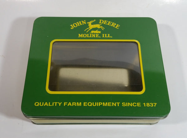 "John Deere Tractors Moline, Ill. ""Quality Farm Equipment Since 1837"" Tin Metal Container"
