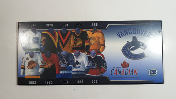 Molson Canadian Vancouver Canucks Ice Hockey Team Jersey History Wall Plaque Board