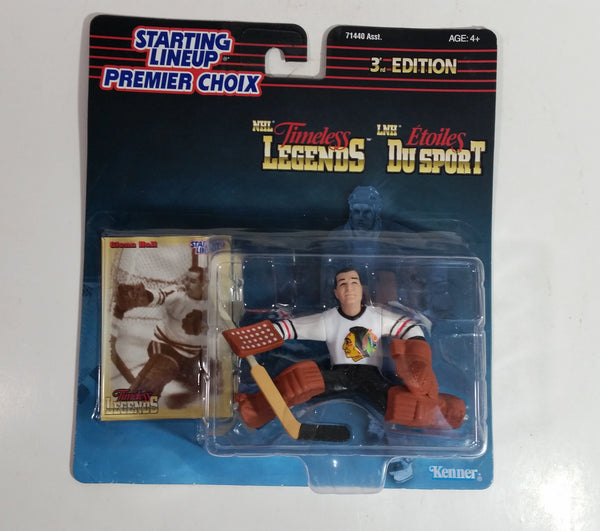 1998 Kenner Starting Lineup Timeless Legends NHL Ice Hockey Player Goalie Glenn Hall Chicago Blackhawks Action Figure and Trading Card New in Package