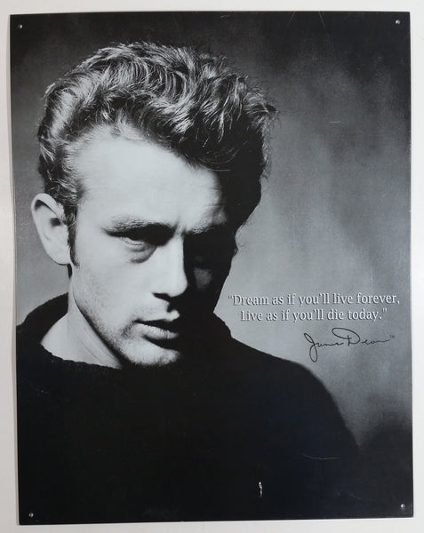 "James Dean Actor Poster 12"" x 16"" Tin Metal Sign Hollywood Movies Collectible"