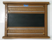 Vintage GRS General Recreation Sports Ltee Wooden Billiards Snooker Pool Scoreboard with Chalkboard and Solid Brass Pointers