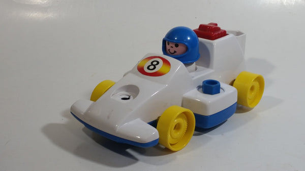 1984 Fisher Price Toys 184 Formula 1 Race Car Pull Back Motorized Friction Toy Vehicle Made in Singapore