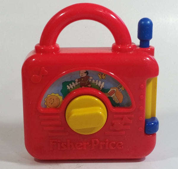 "1992 Fisher Price Windup Music Box ""Frere Jacques"" Are You Sleeping Red Plastic Toy"