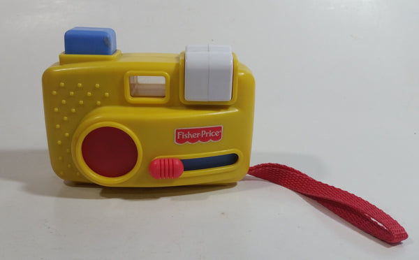 1998 Fisher Price Yellow Toy Camera View Finder Slideshow with 24 Animal Slides
