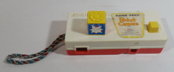 "Vintage 1974 Fisher Price Yellow Toy Camera View Finder Slideshow ""A Trip To The Zoo"""