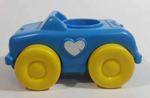 Rare 1989 Fisher Price Little People Click Along Riders Blue Heart Car Plastic Toy Vehicle