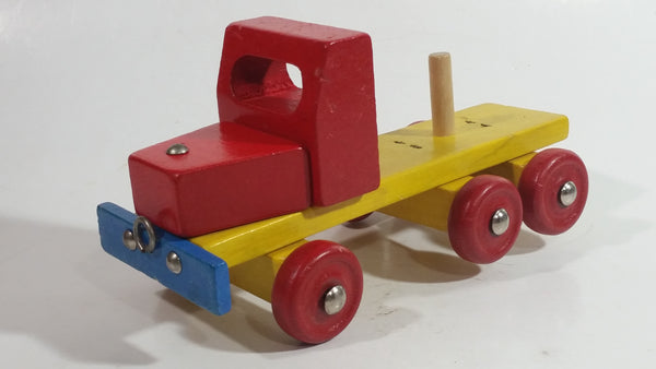 Vintage Wood Wooden Model Toy Transport Truck Made in Western Germany