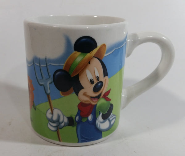 Gibson Disney Mickey Mouse Farmer with Farm Scenes Ceramic Coffee Mug Cup