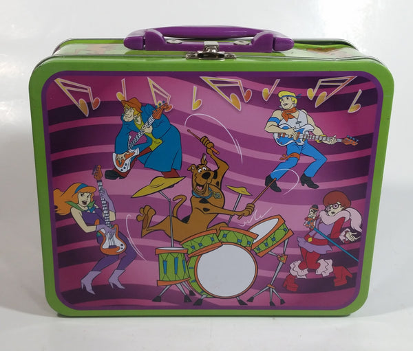 2012 Scooby-Doo! Cartoon Characters Music Band Themed Embossed Tin Metal Lunch Box with 100 Piece Puzzle