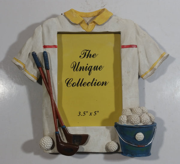 "The Unique Collection Golf Golfing Sports Themed 3 1/2"" x 5"" Resin Picture Photo Frame"