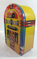 "1998 Coca-Cola Coke Soda Pop Drink Beverage Always Rockin' 9"" Tall Jukebox Shaped Tin Metal Canister"