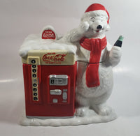 "Houston Harvest Drink Coca-Cola In Bottles Coke 10 1/2"" Tall Large Vending Machine With Polar Shaped Ceramic Cookie Jar"
