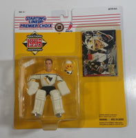 1995 Edition Kenner Hasbro Starting Lineup NHL Ice Hockey Player Goalie Tom Barrasso Pittsburgh Penguins Action Figure and Fleer Ultra Trading Card New in Package