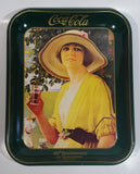 Vintage 1980 60th Anniversary of Coca-Cola in Vancouver 1920-1980 Yellow Dress Woman Official Tray