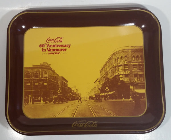 Vintage 1980 60th Anniversary of Coca-Cola in Vancouver 1920-1980 Georgia Street Official Tray
