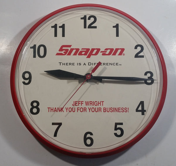"Snap On Tools ""There is a Difference"" Custom Made 12 3/4"" Diameter Automotive Advertising Gift Clock for a Customer ""Thank you for your business!"""