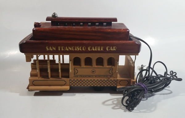 San Francisco Cable Car Highly Detailed Wooden Trolley Street Car Shaped Telephone with Cable Car Ring