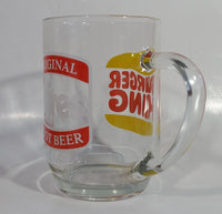 Vintage Hires Root Beer Soda Pop Beverage Burger King Restaurants Clear Large Round Glass Mug