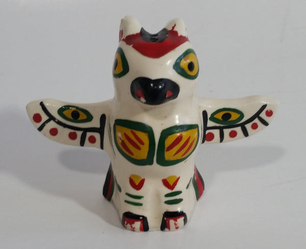 Horseshoe Bay, B.C. Bird Themed Totem Pole Shaped Ceramic Salt or Pepper Shaker Souvenir Travel Collectible