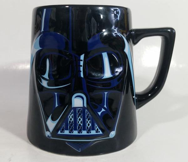 Disney Star Wars Darth Vader 24 oz. Dark Blue and Black Embossed Ceramic Coffee Mug Cup