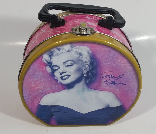 2005 Marilyn Monroe Pink Round Tin Metal Lunch Box with Handle