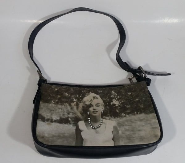 Marilyn Monroe Jeweled Necklace and Earrings Black and White Print Purse