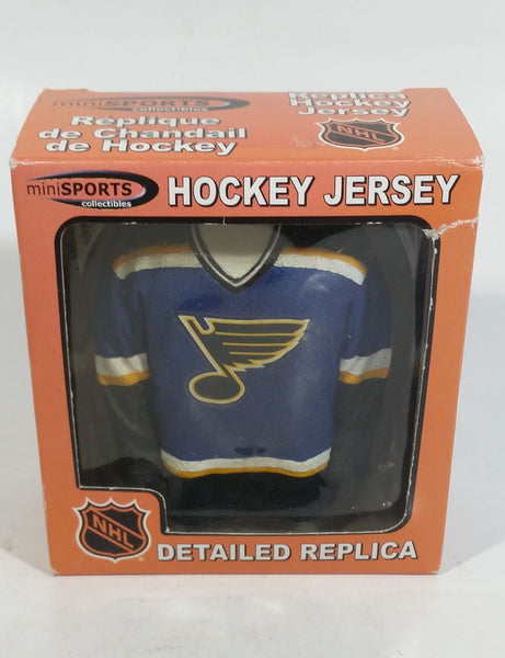2002 Mini Sports Collectibles NHL Detailed Replica Hockey Jersey St. Louis Blues Dark Blue Version In Box