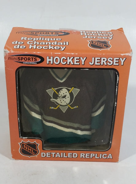 2002 Mini Sports Collectibles NHL Detailed Replica Hockey Jersey Anaheim Might Ducks Version In Box
