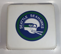 Vintage Seattle Seahawks Stadium NFL Football Team Vinyl Covered White and Blue Seat Cushion