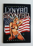 "Lynyrd Skynyrd Rock Band Babe in Bikini in Front of American Flag 11 1/2"" x 16"" Wood Wall Plaque Music Collectible"