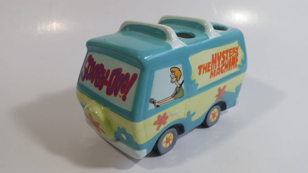 1999 Hanna Barbera Scooby-Doo! The Mystery Machine Van Shaped Ceramic Toothbrush Holder