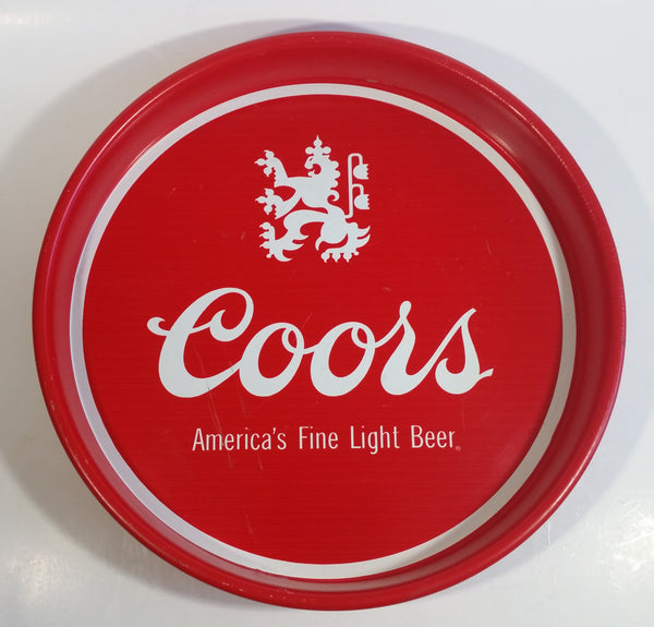 "Vintage Coors America's Fine Light Beer 13"" Diameter Round Metal Red Beverage Serving Tray"