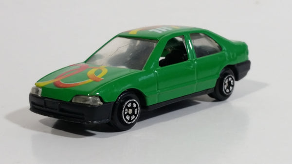 "Yatming no. 818 '91-95 Honda Civic Green ""1A"" Die Cast Toy Car Vehicle"