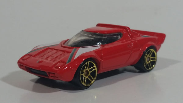 2002 Hot Wheels First Editions Lancia Stratos Red Die Cast Toy Car Vehicle