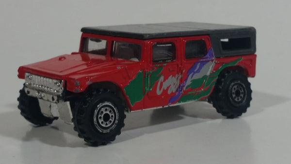 Unknown Brand Hummer Red with Black Roof Die Cast Toy Car Vehicle