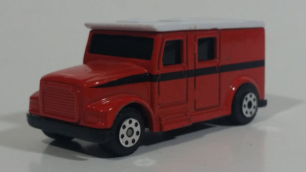 Maisto Fresh Metal City Service Armored Van Truck Dark Burnt Orange with White Roof Die Cast Toy Car Vehicle