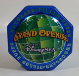 2001 Disney Sea Tokyo Grand Opening Chocolate Filled Puffs Cartoon Character Themed Octagon Shaped Tin Metal Container