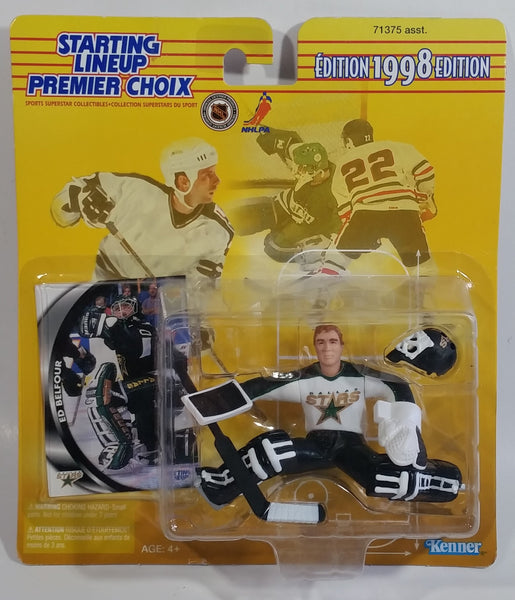 1998 Edition Kenner Hasbro Starting Lineup NHL Ice Hockey Player Goalie Ed Belfour Dallas Stars Action Figure and Upper Deck Trading Card New in Package