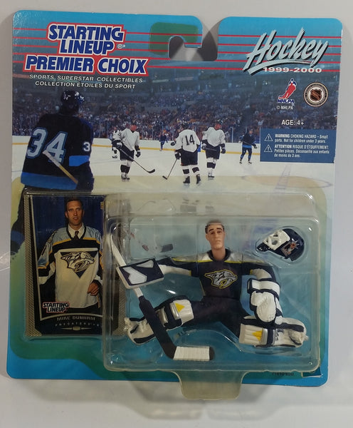 1999 - 2000 Hasbro Starting Lineup NHL Ice Hockey Player Goalie Mike Dunham Nashville Predators Action Figure and Upper Deck Trading Card New in Package