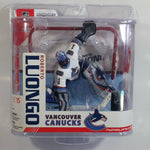 2007 McFarlane Sports Picks NHL Ice Hockey Player Goalie Roberto Luongo Vancouver Canucks  Action Figure and Net New in Package Series 15
