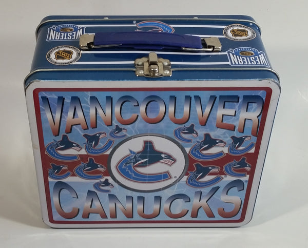 Vancouver Canucks NHL Ice Hockey Sports Team Metal Lunch Box Container