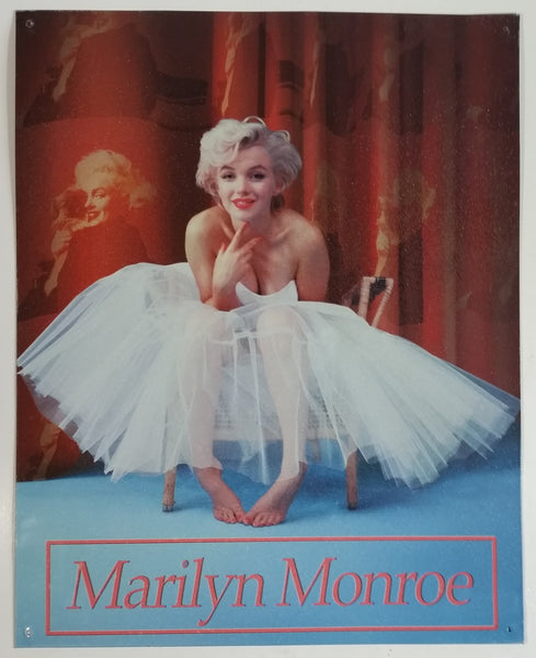 "2010 Marilyn Monroe in White Dress 12"" x 15"" Tin Metal Sign Hollywood Collectible"