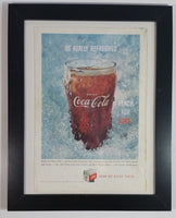 "Rare Vintage 1959 Coca-Cola ""Sign Of Good Taste"" ""Be Really Refreshed"" ""Reach For Coke"" Framed Magazine Print Ad Cola Soda Pop Beverage Collectible"