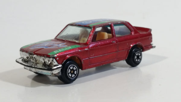Yatming BMW 320i Dark Red M-Power Blue #320 Turbo Rally No. 1029 Die Cast Toy Car Vehicle