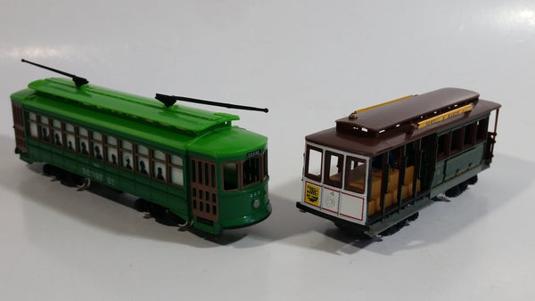 Two HO Classic San Francisco Streetcars Powell & Mason St Trolley and Desire Street Cable Car Die Cast and Plastic Models