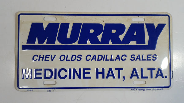 Murray Chev Olds Cadillac Sales Medicine Hat, Alberta Vehicle Promotional Advertising Dealer License Plate