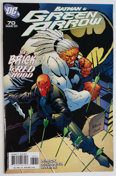 2007 DC Comics Batman & Green Arrow vs. Brick & Red Hood #70 Comic Book